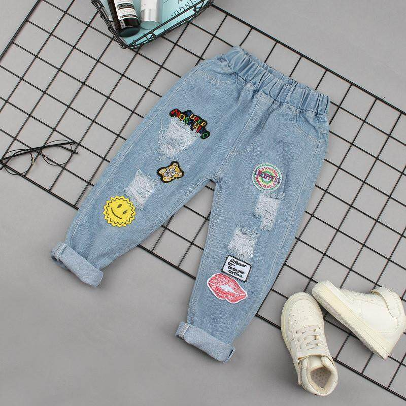 7f76a57f8ef IENENS Infant Baby Girls Clothes Jeans Classic Light Color Bottoms Children  Girl Denim Clothing Long Pants