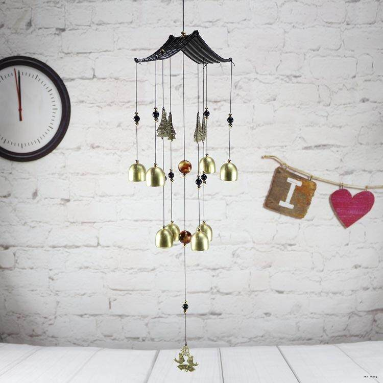 EAU Alloy Bronze Wind Chime Home Feng Shui Bell Security Door And Window Ornaments