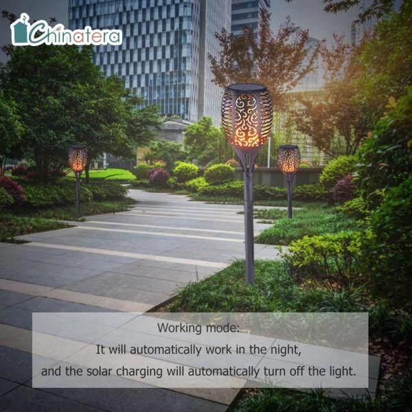 [Chinatera] 1/2/4/6 Pcs Ngoài Trời Mặt Trời Cho Vườn Đèn Hình Ngọn Lửa Đèn LED Chống Nước Đèn Pin Trang Trí Sân