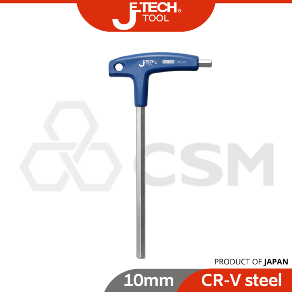Jetech T-Flat Hex Key With PVC Handle  Heavy duty Plastic Handle  Durable Home Use Smooth Repair Screwdriver Flat