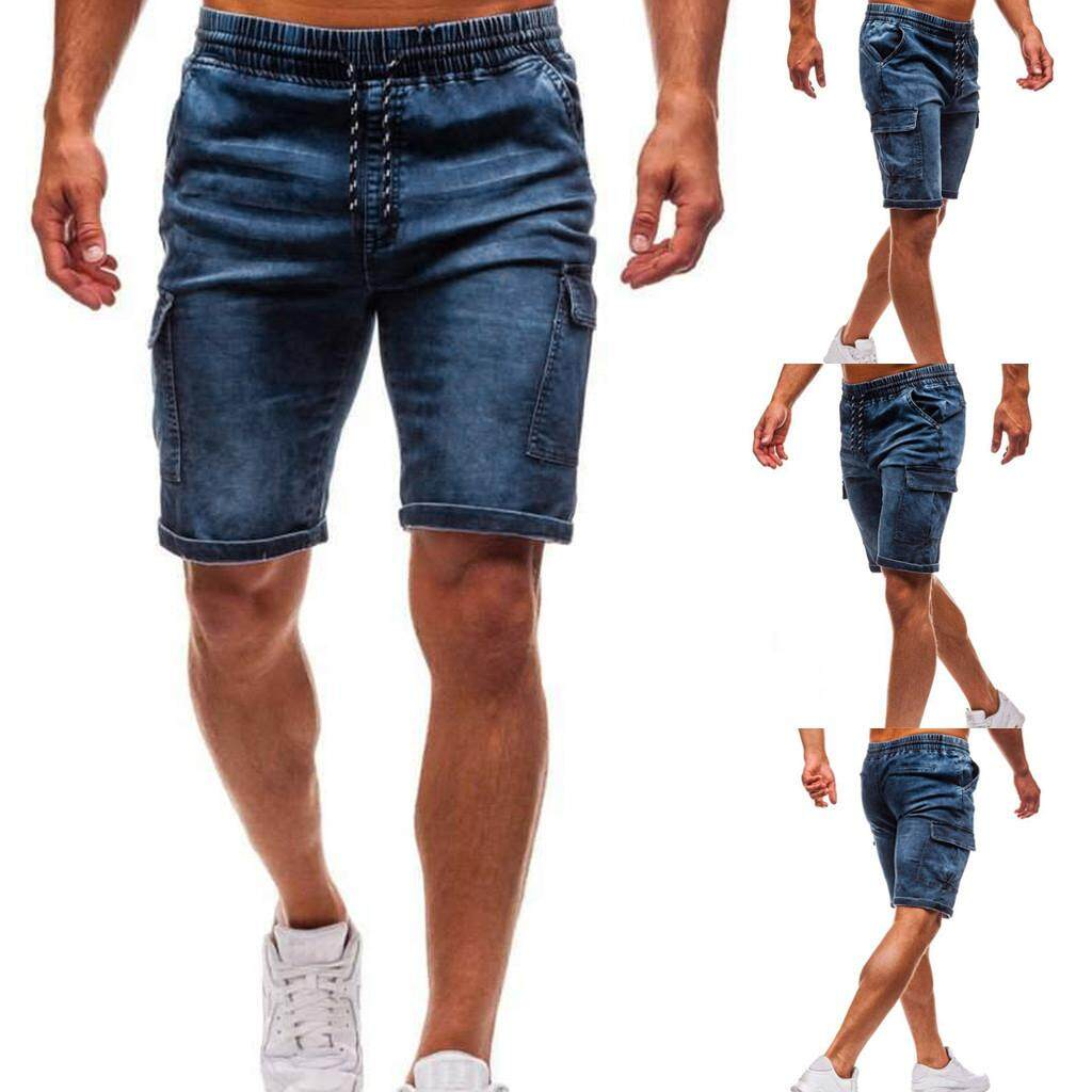 741db1b8af46 Fashion Men's Slim Biker Denim Jeans Skinny Frayed Pants Distressed Rip  Shorts