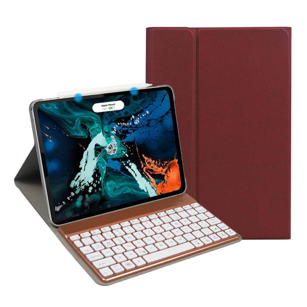 BuyInBulk Pro 11 Inch Tablet Bluetooth Keyboard Holster Colorful Backlit  Wireless Keyboard Plastic High Quality Soft And Aomfortable Leather  Aluminum