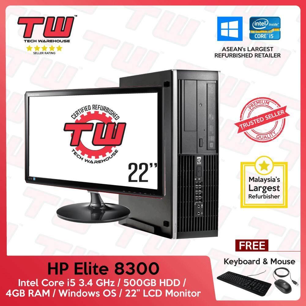 HP Elite 8300 Core i5 3rd Generation / 4GB RAM / 500GB HDD / Windows OS  (SFF) Desktop PC / 22