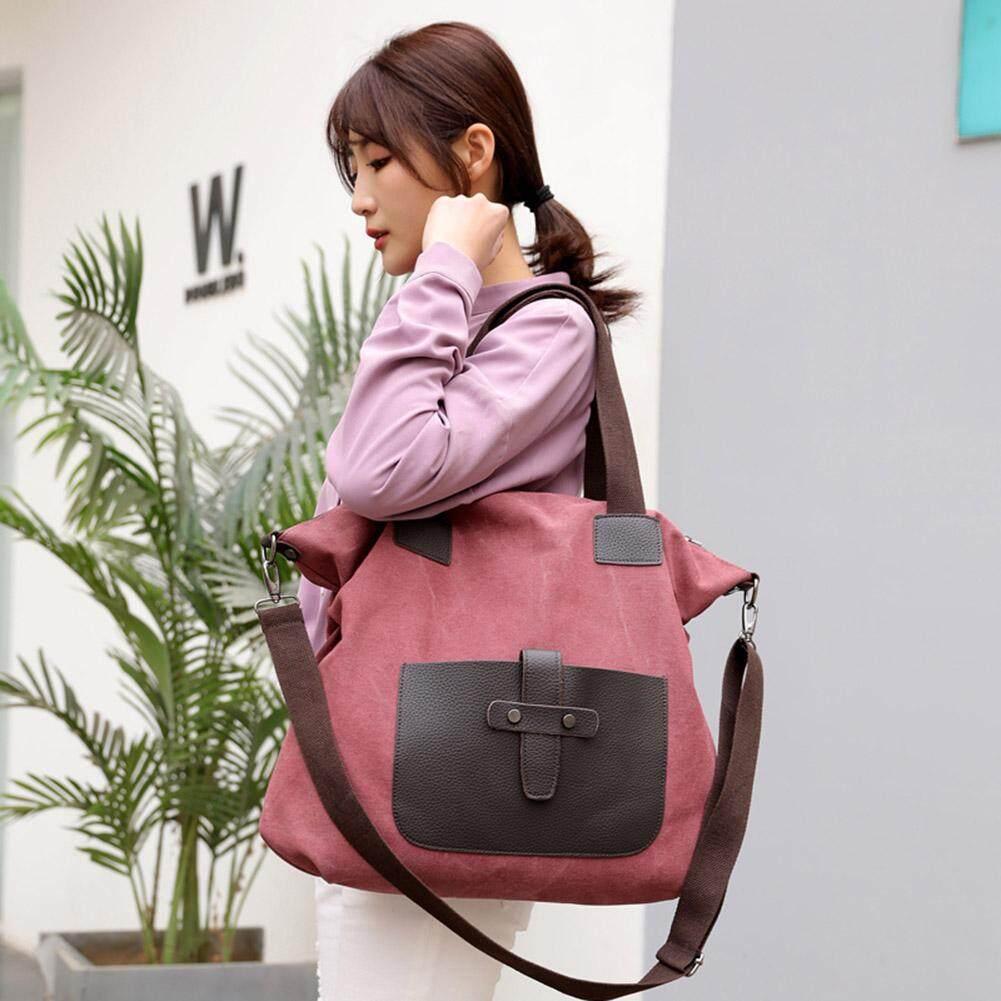 tronicityCanvas Travel Casual Handbag Totes Women Men Unisex Shoulder Crossbody Bag