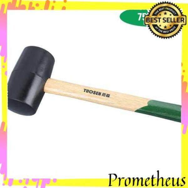 HOT ITEM 60750 Black Rubber Mallet Dual Face Tile Hammer with Wooden Handle (Black)