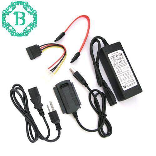 Sata/ide To Usb 2.0 Adapter Converter Cable For 2.5/3.5 Hard Drive Black 1pcs By Benediction.