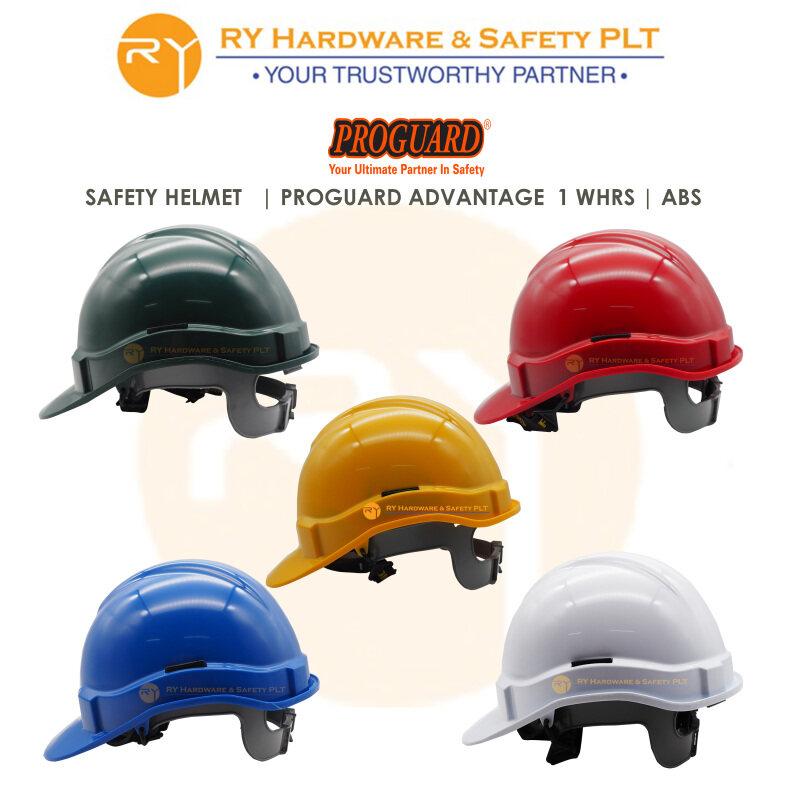PROGUARD ADVANTAGE 1 WHRS   Back Anchorage slot   ABS   SIRIM & DOSH Approval   Ratchet system   Topi keselamatan   Safety Helmet