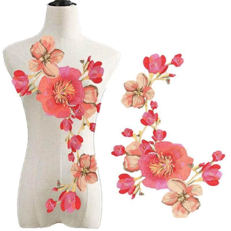 Miếng vá thêu quần áo hoa dài hoa thêu phụ kiện may vá tự làm
