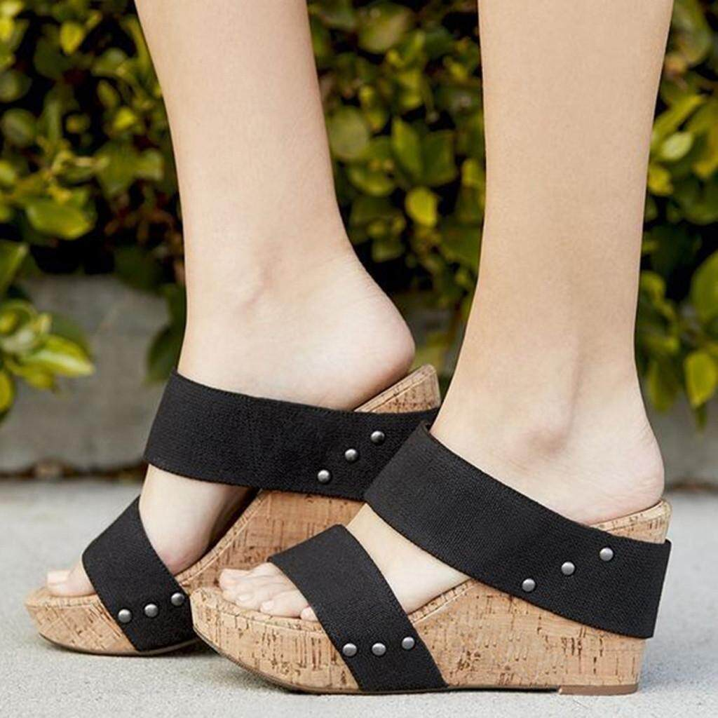 b060a0126063 Watsonshop Summer Womens Breathable Thick Bottom Retro Wedge Sandals Flats  Roman Slippers 2019 hot sale