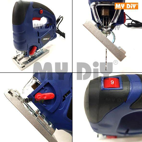 HARDWARESTATION - Jinding Electric Hand Jig Saw Sheet Metal Cutting  Machine, Variable Speed, 45 Degree, 65mm / Wood Sheet Cutter / Metal Cutter