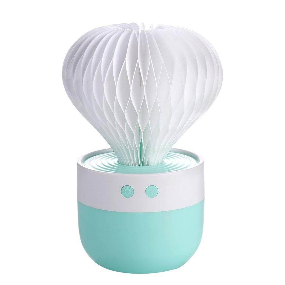 WOND Mini Ultrasonic Air Humidifier Cactus Shape Aroma Essential Oil Diffuser