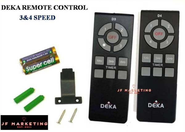 Deka / Kronos Fan Remote Control 3 Speed & 4 Speed (1piece)