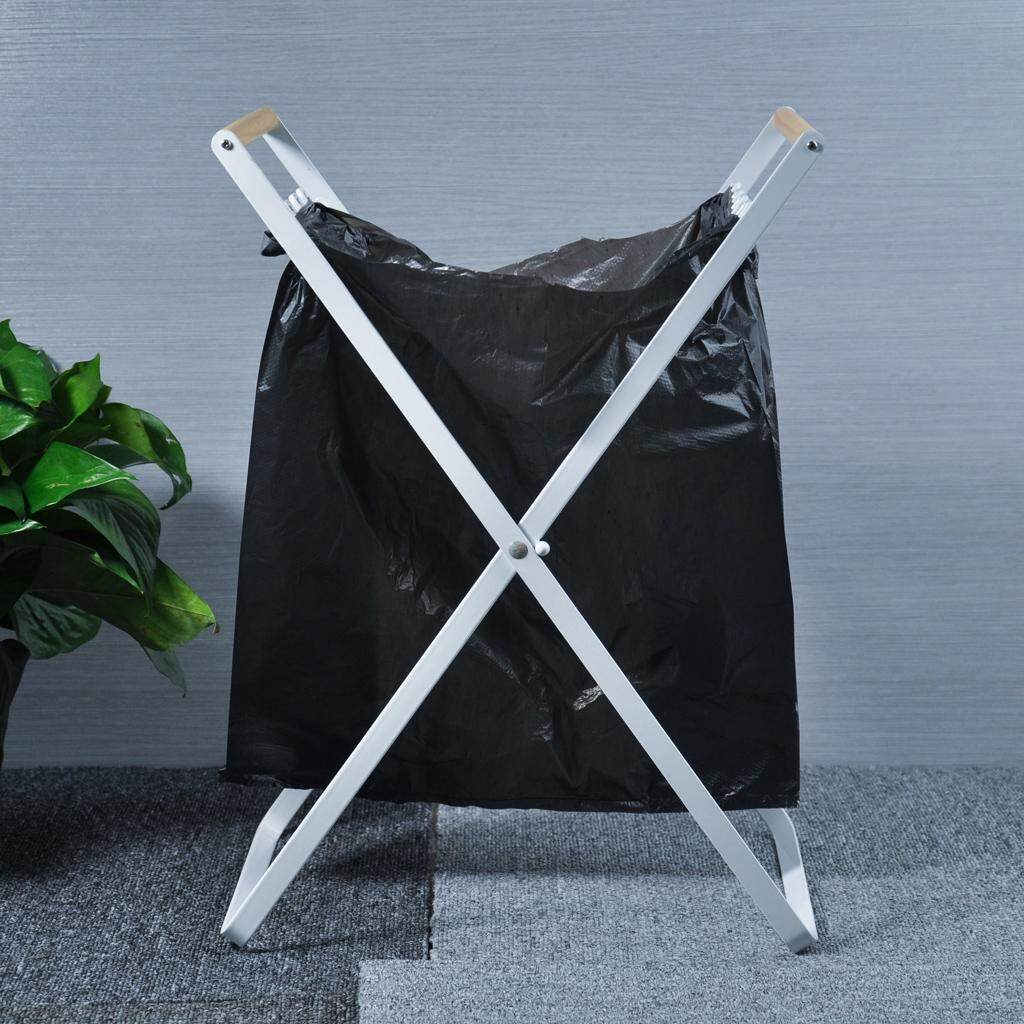 Loviver Trash Bags Holder Stand Frame Foldable Rubbish Stand for Home Camping