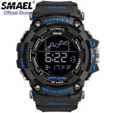 SMAEL Đồng hồ thể thao chạy bộ ngoài trời nam chống nước chống sốc Diver đồng hồ kỹ thuật số báo thức đồng hồ bấm giờ đồng hồ nam 1802