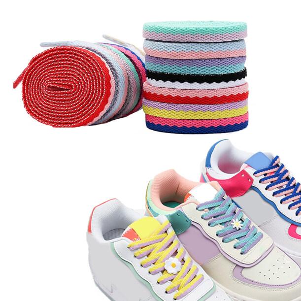 , Giày Đế Bằng Đôi, Giày Nhỏ Màu Trắng Giày Dây Ren Phụ Kiện Giày Rỗng Dây Giày Dệt giá rẻ