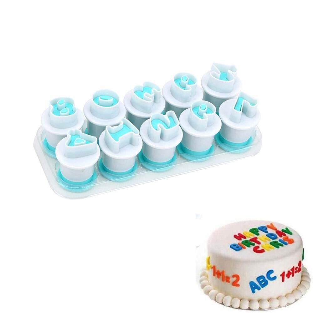Helpful 40pcs Alphanumeric Symbols Printed Fondant Cake Decor Mold Tools Letters Printed Plastic Candy Mould Bakeware Baking & Pastry Tools