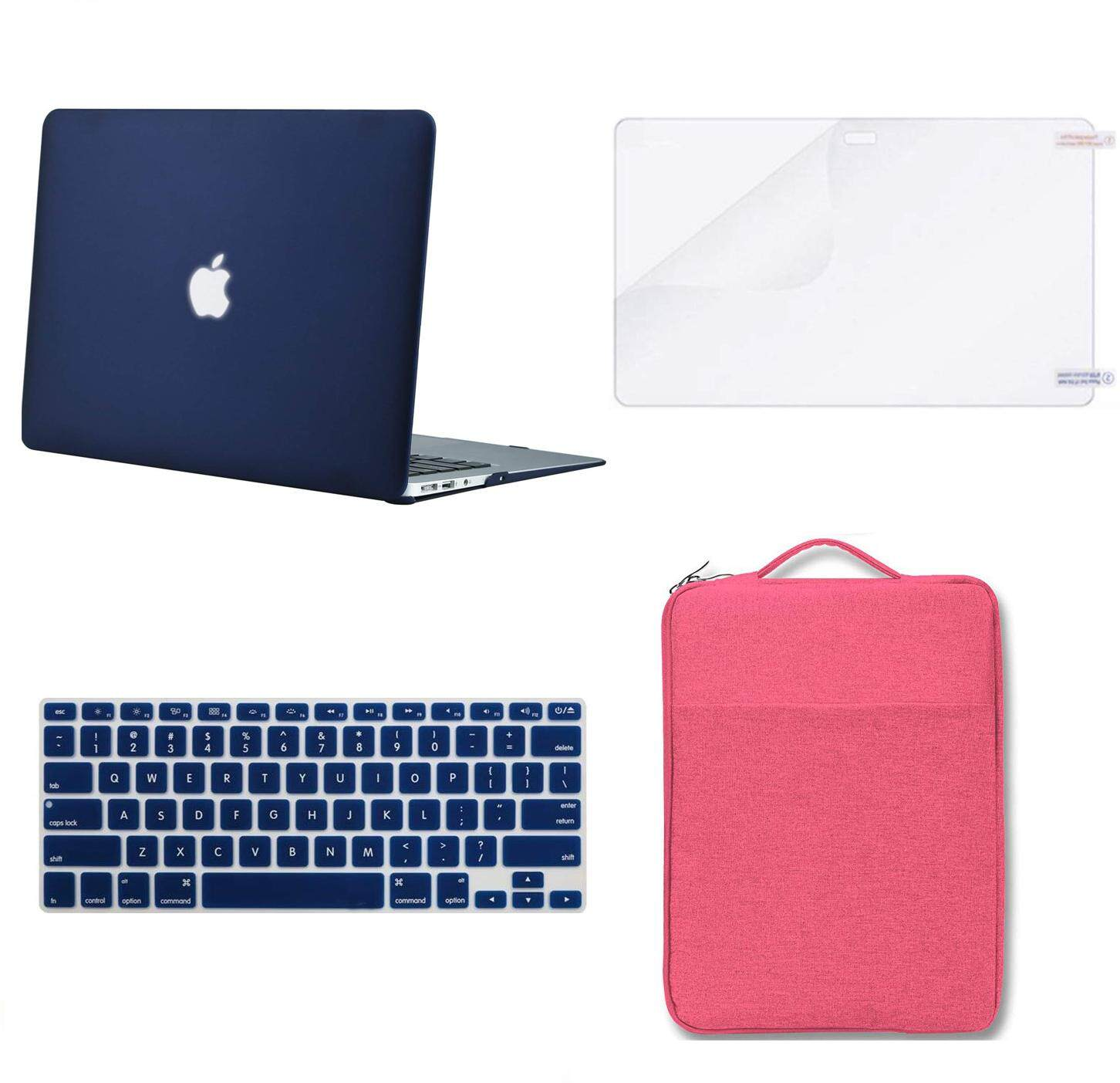 "3in1 ROYAL BLUE Rubberized Case for Macbook Pro 13/"" A1425 Retina display+Key+LCD"