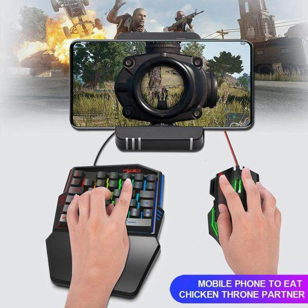 HXSJ V100 Wired One Handed Game Keyboard 5500DPI Optical Wired Gaming Mouse Singapore