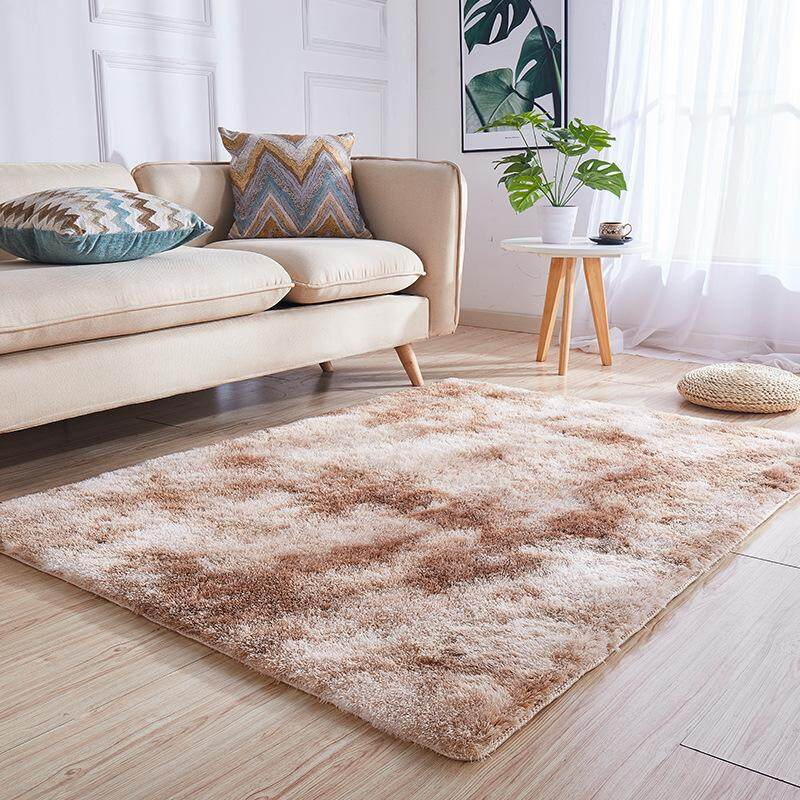 Magnificent Betrare Custome Made Fluffy Tie Dye Ins 2 Tone Carpets Bulu For Living Room Large Bedroom Carpet Window Mat Childrens Bed Side Large Karpet Tatami Interior Design Ideas Inamawefileorg