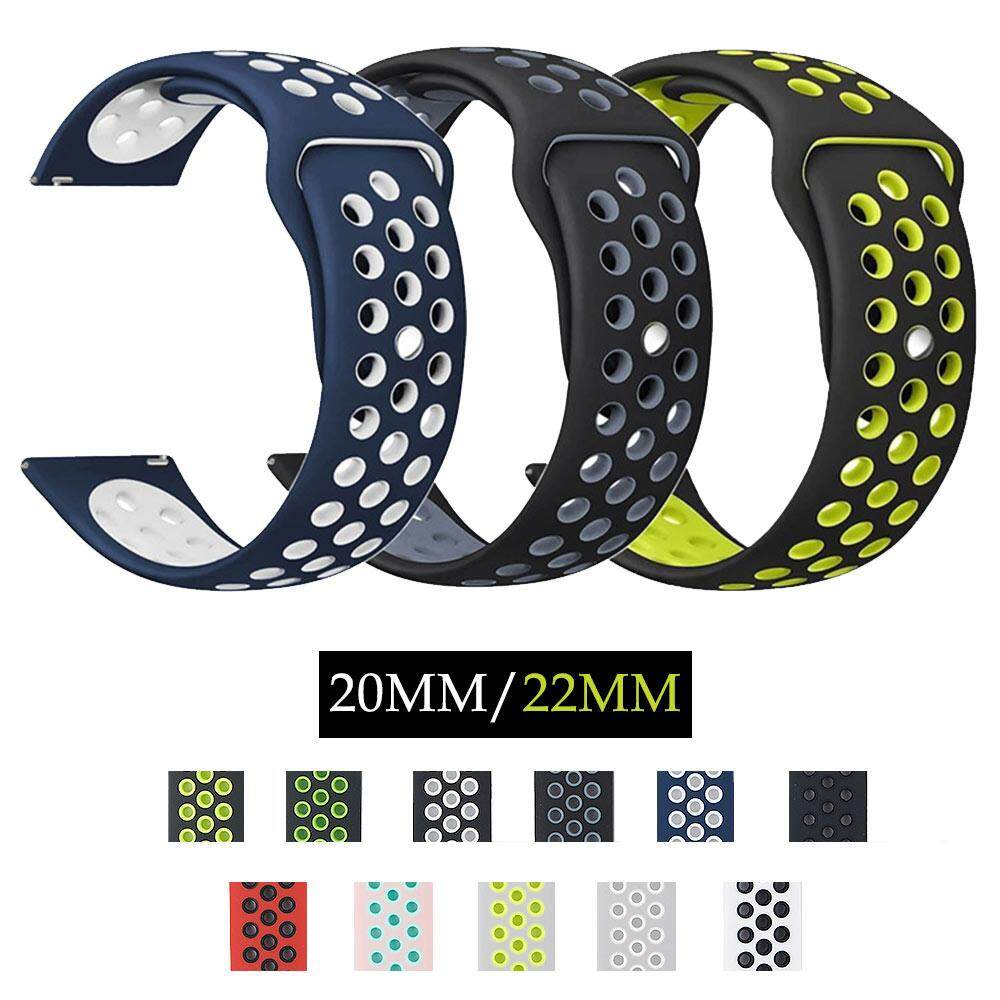 20mm 22mm silicone Band For Samsung Galaxy Gear sport S2 Classic S3 Frontier Replacement Strap amazfit Bip Lite Huawei Watch 2 Malaysia