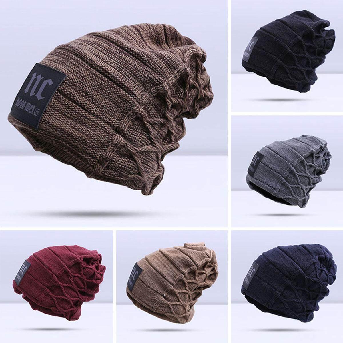 8ff8f15f3 Evrfelan Knitted Velvet Thickness Warm Winter Hat. Man Skullies Hat Caps  Men S Warm Winter Beanie Hat Fashion Bonnet Gorros