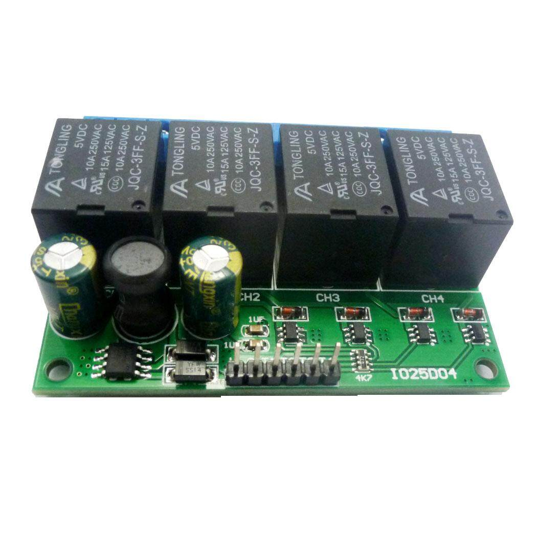 4Ch Dc 6V-24V Flip-Flop Latch Relay Module Bistable Self-Locking Electronic Switch Low Pulse Trigger Board Button Mcu Io Control
