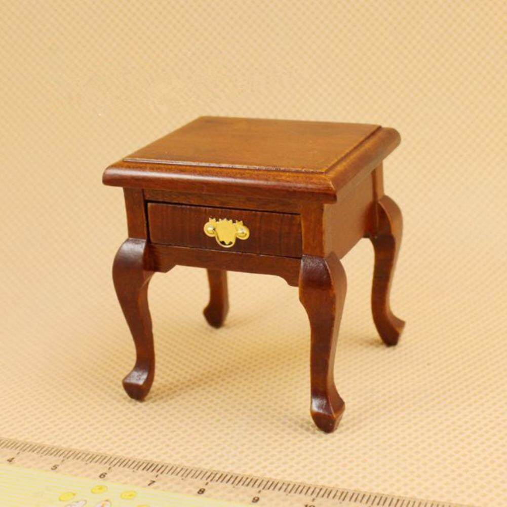 Redcolourful Mini Bedside Table Furniture Accessories for 1:12 Doll House