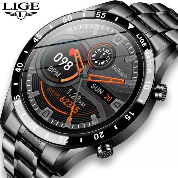 LIGE 2020 New Luxury brand Jam Tangan Lelaki Stainless Steel Fitness watch Activity tracker Smart Watch For Men Malaysia