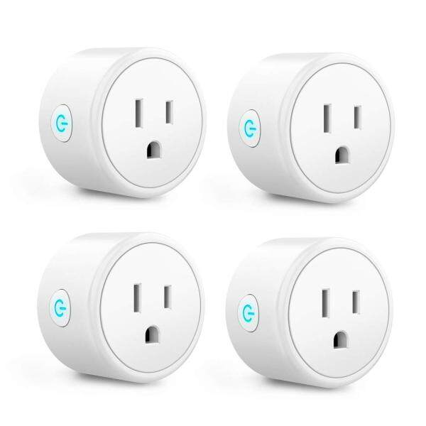 4 Pack Smart Plug - Mini WIFI Switch Works With Alexa, Google Home & IFTTT, Remote Control Outlet with Timer Function, ETL/FCC/Rohs Listed Socket