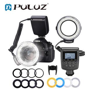 PULUZ RF-550D 48 Macro Led Đèn Flash Kính Lọc Ánh Sáng Với 8 Ống Kính Bộ Chuyển Đổi Cho Nikon Canon Sony Pentax Olympus Panasonic Máy Ảnh DSLR Đèn Flash Kính Lọc Kit thumbnail