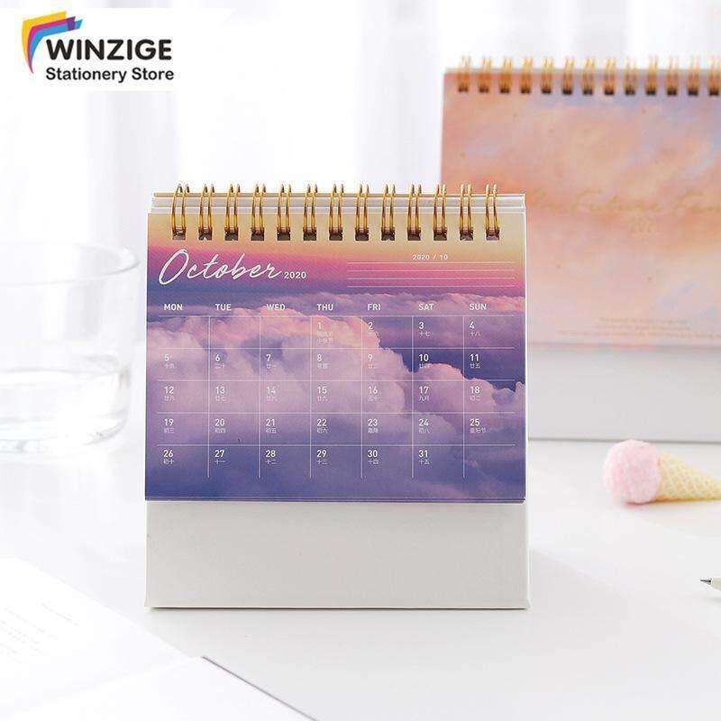 Winzige 2021 ảo mây Máy tính để bàn lịch Nhật ký kế hoạch văn phòng sinh viên văn phòng phẩm