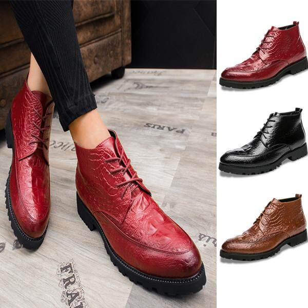 Men Genuine Leather Ankle Shoes Casual Business Shoes Wedding Formal Shoes  for Men Office Shoes f7bfd2eaf019