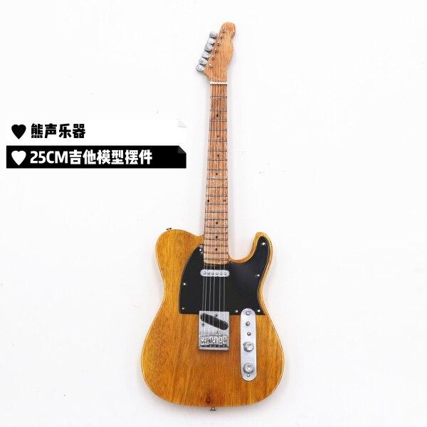 Đàn Guitar Gỗ Thủ Công 25Cm, Guitar Điện, Mô Hình Bass Điện, Đồ Trang Trí, Quà Tặng, Nhạc Cụ
