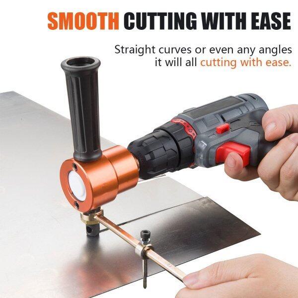 1 Pcs Double Head Sheet Metal Nibbler Cutter 360 Degree Adjustable Power Drill Nibbler Cutting Tools Kit
