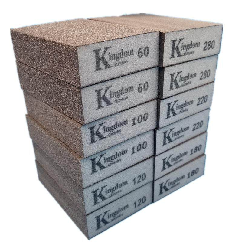 Kingdom Sanding Block Sponge Grit 60/100/120/180 Polishing Sandpaper