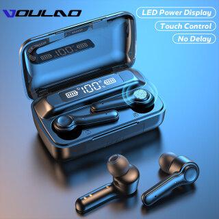 Tai Nghe VOULAO T19 Wireless 5.0, Tai Nghe Bluetooth Thể Thao Chống Nước Điều Khiển Cảm Ứng, Tai Nghe Âm Thanh Nổi HiFi 9D Tai Nghe Với Microphone thumbnail