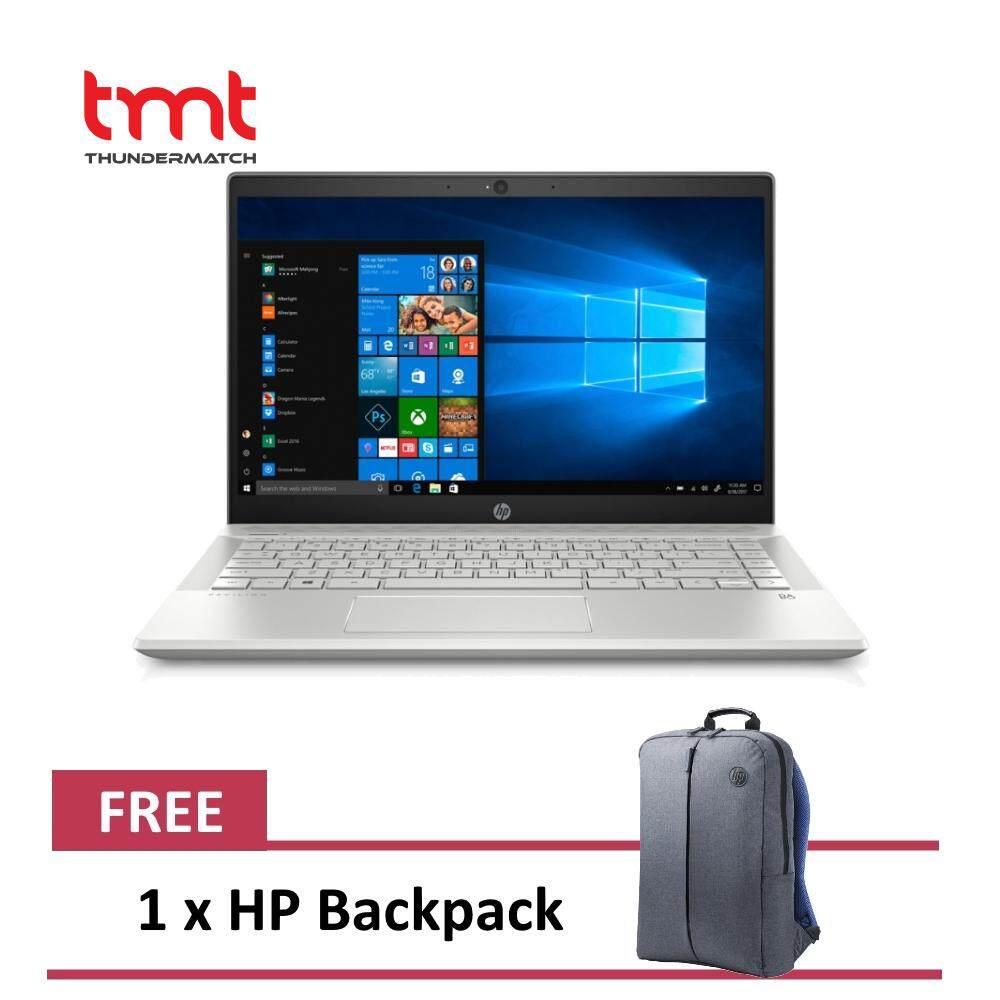 HP Pavilion 14-ce1061TX | i5-8265U | 4GB | 1TB+128GB | 14.0 | NVD MX130 | W10 - Silver (5SE60PA) Malaysia