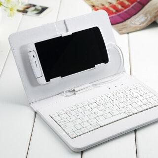 Bàn Phím Có Dây Chung Bao Da Lật Holster Cho Android 4.2 -6.8 Điện Thoại Di Động Da PU Độc Đáo Với Bàn Phím thumbnail