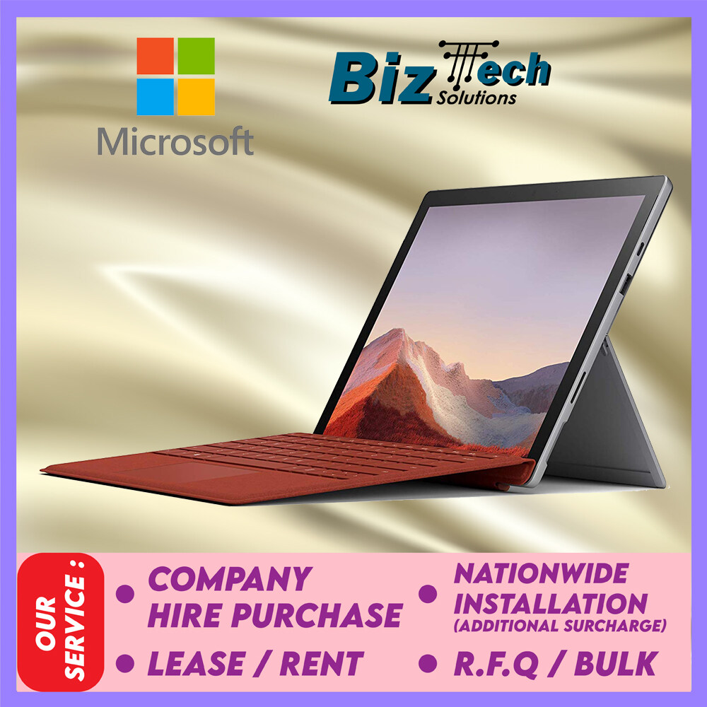 Microsoft Surface Pro 7 Platinum (i3-128GB-4GB) Commercial Laptop Leasing Rental Hire Purchase Installment Malaysia