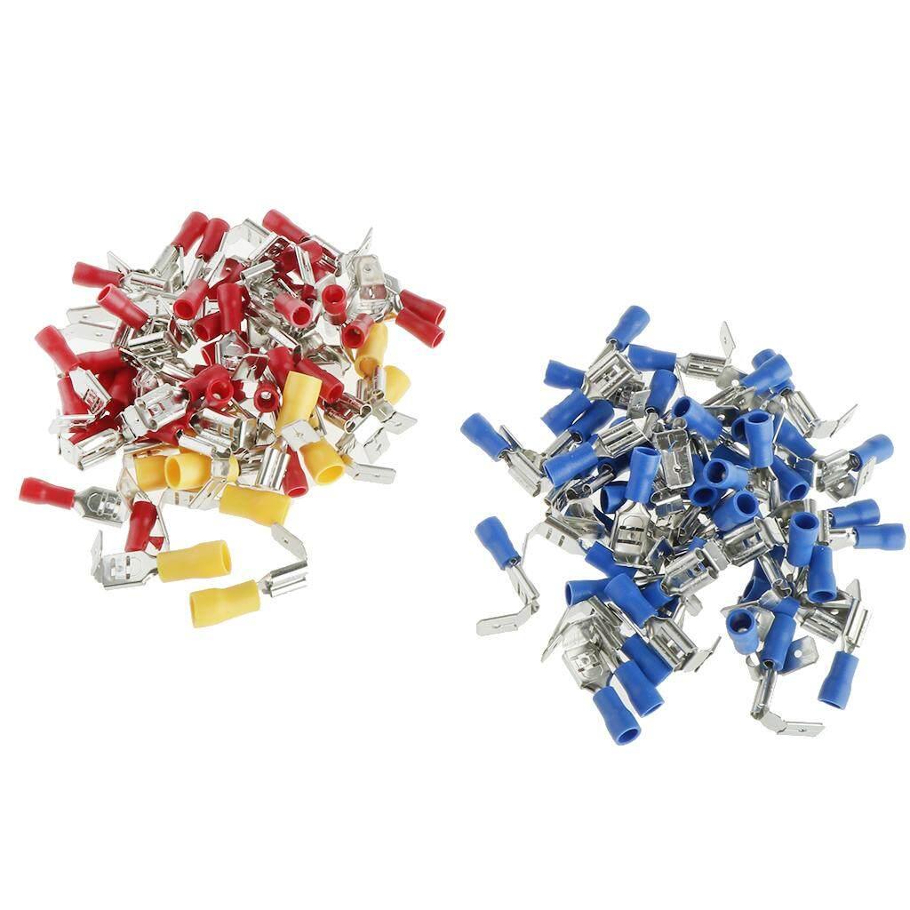 BolehDeals 100PCS 3 Colors 22-18AW Wire Connector Electrical Crimp Terminals Kit