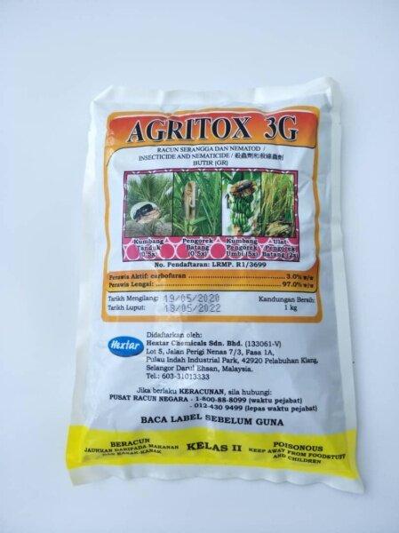 Agritox 3G/ Racun Serangga dan Nematod