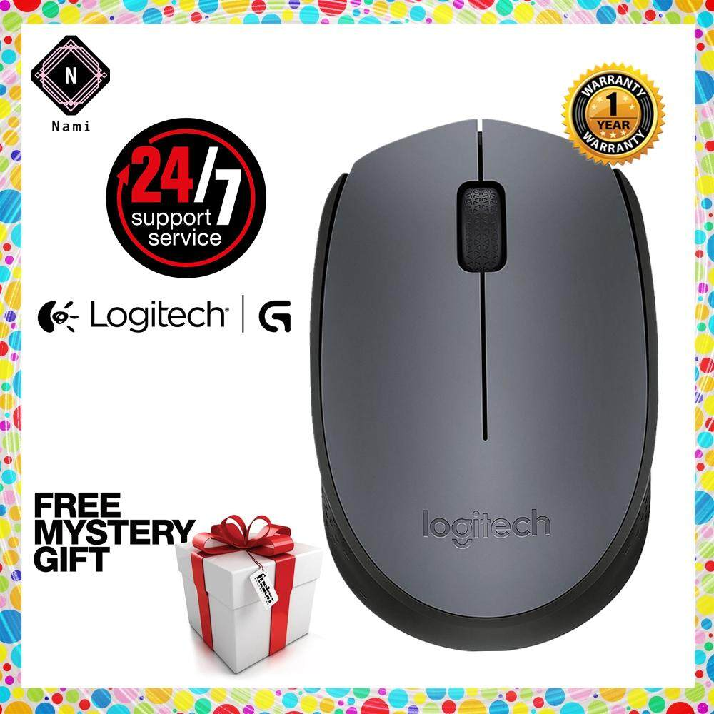 Logitech M170 Wireless Mouse (910-004658) - Original (Double Bubble Wrap  Packing + Fragile Sticker)