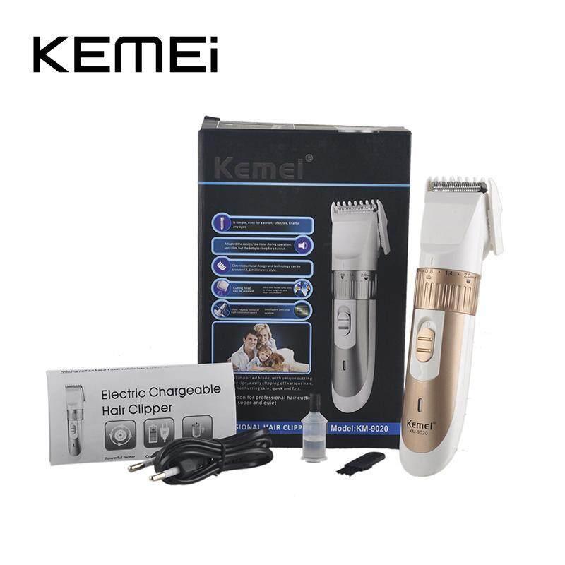 Professional Hair Electric Clipper Trimmer Titanium Blade Hair Trimmer Cutting Machine Shearer With Limit Combs KEMEI KM-9020 Free Shipping Đang Có Giảm Giá