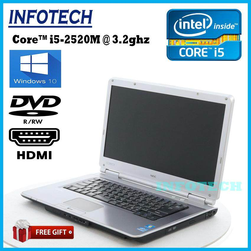 Nec VK25 intel core i5 2520M 3.2ghz 2nd gen 8gb or 4gb ram 320gb hdd dvd hdmi usb3.0x2 laptop notebook 15.6 ~ refurbished Malaysia