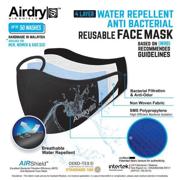A&K AirShield™️, 4ply Reusable Face Mask, New Version