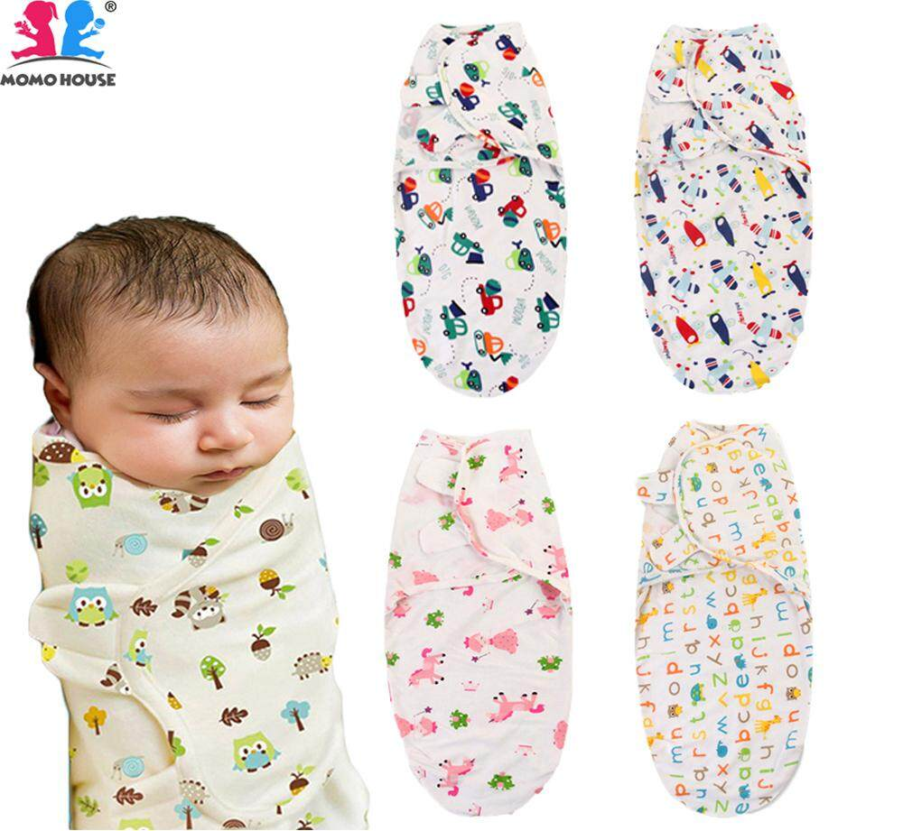 MOMO House Baby Cute Cartoon Cotton Swaddle Soft Blanket Kain Bedung Kain  Selimut Kain Tuala 0 d607c5557
