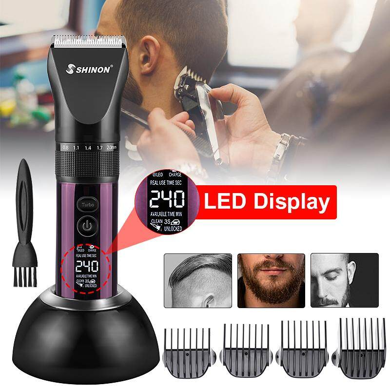 【Free Shipping + Flash Deal】Professional Hair Removal Men Barber Hair Clipper Electric Beard Shaver Machine