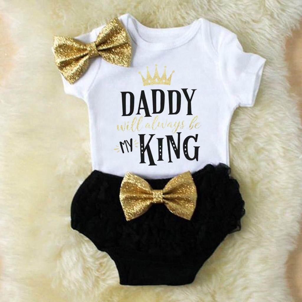 f5e8ad5f1 Lazadacarell 3PCS Cute Newborn Baby Girl Outfits Clothes Tops Romper+Tutu  Shorts Pants Set
