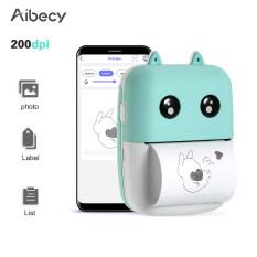 Máy in nhiệt mini không dây, tích hợp pin lithium 1000mAh, độ phân giải dpi 200, chiều rộng giấy 58mm tương thích với các hệ thống Android và iOS