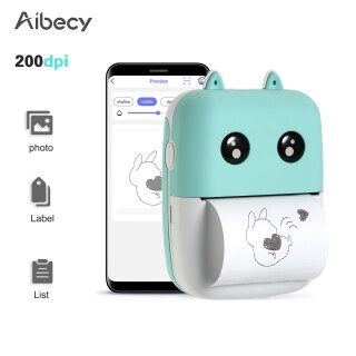 (Miễn Phí 1XRoll Giấy Nhiệt (58Mm)) Máy In Nhiệt Mini Pocket Aibecy Máy In BT Không Dây 58Mm 200Dpi In Ảnh Danh Sách Nhãn Ghi Nhớ Nhật Ký Lập Kế Hoạch Điện Thoại Thông Minh Android IOS Cpmpatible thumbnail